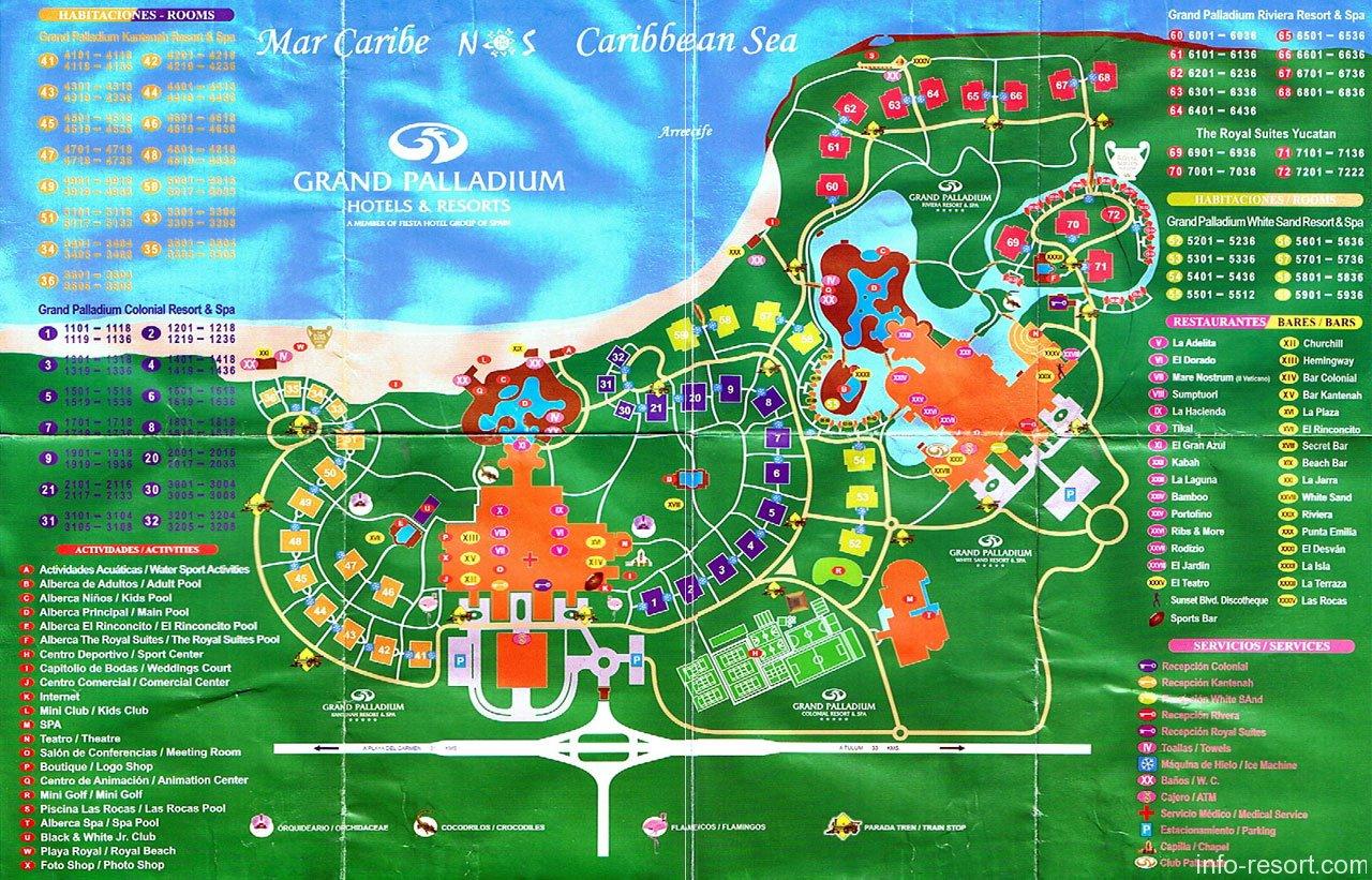 Map Grand Palladium Kantenah